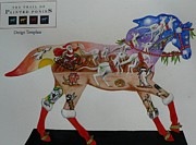 Kangaroo Mixed Media - An Auzzie Christmas Pony by Louise Green