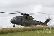 Merlin Posters - An Aw101 Merlin Helicopter Of The Royal Poster by Ofer Zidon