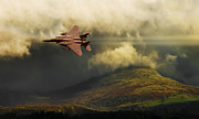 F-15 Prints - An Eagle Over Cumbria Print by Meirion Matthias