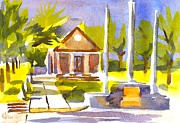 Park Scene Paintings - An Early Summers Morning by Kip DeVore