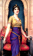 Gold Dress Prints - An Egyptian Beauty Print by William Clarke Wontner