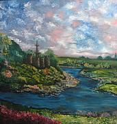 Pallet Knife Painting Prints - An English Sky Print by Michael Kulick