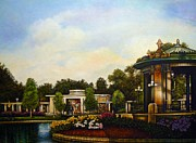 Bandstand Paintings - An Evening at the Muny by Michael Frank