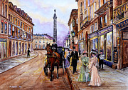 Shops Drawings Prints - An Evening Out Print by Andrew Read