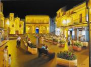 Italian Wine Paintings - An evening under the stars by Chris Skinner