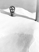 Snow Drifts Prints - An Expired Parking Meter In The Snow Print by Underwood Archives