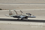 Military Base Framed Prints - An F-15i Raam Of The Israeli Air Force Framed Print by Ofer Zidon