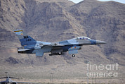 F-16 Aggressor Prints - An F-16c Falcon Of The 65th Aggressor Print by Remo Guidi