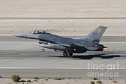 Featured Metal Prints - An F-16c Fighting Falcon Taking Metal Print by Remo Guidi