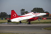 The Tiger Metal Prints - An F-5 Jet Of The Turkish Stars Metal Print by Timm Ziegenthaler