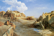 Thomas Moran Prints - An Indian Pueblo New Mexico Print by Thomas Moran