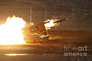 Featured Acrylic Prints - An Israel Defense Force Artillery Core Acrylic Print by Ofer Zidon