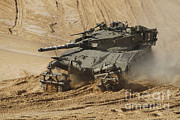 Battletank Posters - An Israel Defense Force Merkava Mark Ii Poster by Ofer Zidon