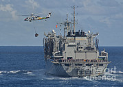 An Mh-60s Sea Hawk Conducts A Vertical Print by Stocktrek Images