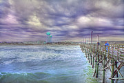 Subdued Prints - An Ocean of Clouds Print by Betsy A Cutler East Coast Barrier Islands