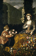 Famous Artists - An Offering to Flora by Juan van der Hamen y Leon