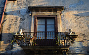 Syracuse Framed Prints - An old balcony in Syracuse Framed Print by RicardMN Photography