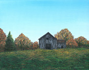 Old Barn Paintings - An Old Barn by Billinda Brandli DeVillez
