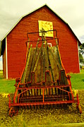Wagons Prints - An Old Barn In Kittitas Print by Jeff  Swan
