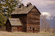 Old Barns Photo Prints - An Old Barn Near Flathead Lake Print by Jeff  Swan