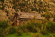 Old Cabins Photo Posters - An Old Cabin In Utah Poster by Jeff  Swan