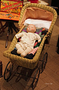 Quilt Art Photos - An Old Fashioned Christmas - Baby Buggy by Suzanne Gaff