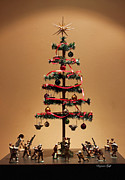Collectors Toys Prints - An Old Fashioned Christmas Tree II Print by Suzanne Gaff