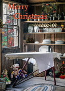 Ironing Board Posters - An Old-fashioned Merry Christmas Poster by Lynn Palmer