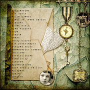 Digital Mixed Media - An Old List by Karen  Burns