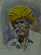 Prashant Srivastava - An old man with yellow...