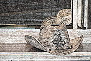 Old Objects Digital Art - An Old Straw Hat by Walter Herrit