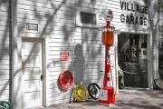 Garage Posters - An old village gas station Poster by Mal Bray
