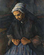 Famous Artists - An Old Woman with a Rosary by Paul Cezanne
