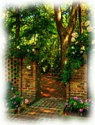 Sunlight Mixed Media Metal Prints - An Open Gate Metal Print by Mel Steinhauer