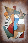 Musical Framed Prints - An Orchestra I Framed Print by Mariya Kazarinova