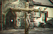 Martyr Digital Art Posters - Anaglyph Martyr of the Church Poster by Ramon Martinez