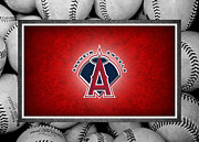 Baseball Bat Metal Prints - Anaheim Angels Metal Print by Joe Hamilton