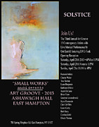 Anahi Decanio Mixed Media Posters - Anahi DeCanio at Art Groove 2013 Poster by Anahi DeCanio