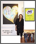 Hall Mixed Media Framed Prints - Anahi DeCanio at Art Groove East Hampton Framed Print by Anahi DeCanio