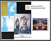 Installation Art Framed Prints - Anahi DeCanio at Boca Raton Museum of Art Exhibit Framed Print by Anahi DeCanio