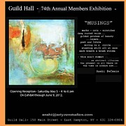 Hall Mixed Media Framed Prints - Anahi DeCanio at Guild Hall - East Hampton Framed Print by Anahi DeCanio
