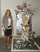 Hall Mixed Media - Anahi DeCanio exhibits at Boca Raton Museum of Art by Anahi DeCanio