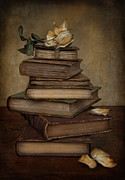 Leather Books Posters - Analects of Wisdom Poster by Robin-lee Vieira