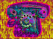 Analog Metal Prints - Analog A-Phone - 2013-0121 - v1 Metal Print by Wingsdomain Art and Photography