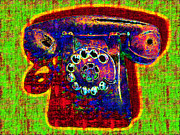 Telephones Prints - Analog A-Phone - 2013-0121 - v2 Print by Wingsdomain Art and Photography