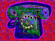 Humour Prints - Analog A-Phone - 2013-0121 - v4 Print by Wingsdomain Art and Photography