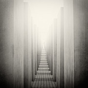Analog Posters - Analog Photography - Berlin Holocaust Memorial Poster by Alexander Voss