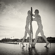 Analog Framed Prints - Analog Photography - Berlin Molecule Man Framed Print by Alexander Voss