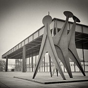 Analog Framed Prints - Analog Photography - Berlin Neue Nationalgalerie Framed Print by Alexander Voss