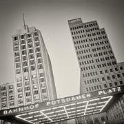 Analog Framed Prints - Analog Photography - Berlin Potsdamer Platz Framed Print by Alexander Voss